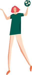 Girl with a ball clipart