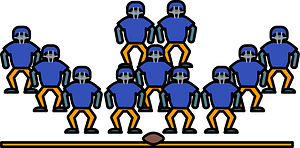 Defensive lineman clipart
