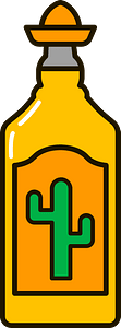 Tequila bottle clipart