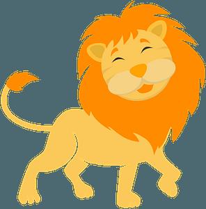 Cute lion clipart