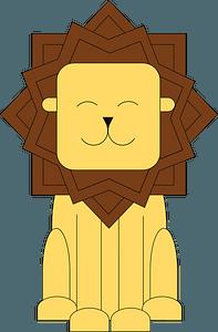 Stylized cartoon lion 클립 아트