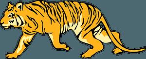Running tiger 클립 아트