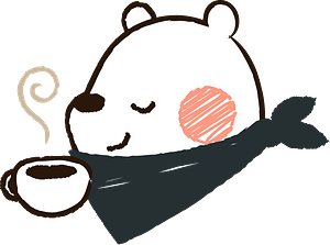 White Bear with Coffee 클립 아트