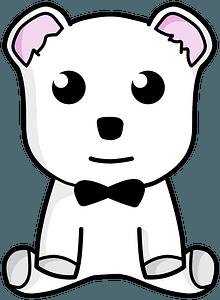 Snow teddy bear clipart