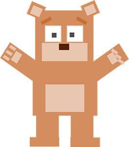 Square bear clipart