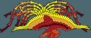 Vermilion bird mythical creature clipart