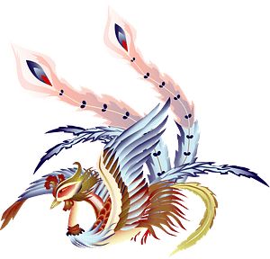 Vermilion bird - Fire element representative clipart