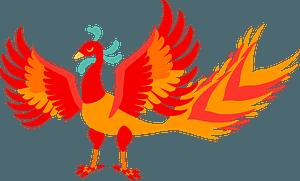 Vermilion bird mythical creature - fire element clipart