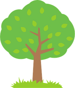 Tree with Green Leaves clipart