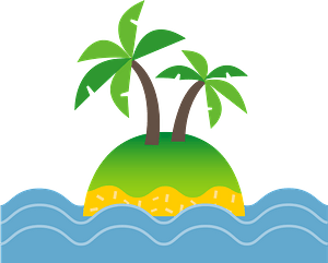 South island palm tree clipart