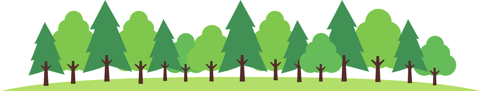 Forest of trees clipart. Free download transparent .PNG | Creazilla
