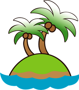 Palm trees island clipart