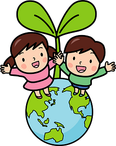 Ecology earth sprout children clipart