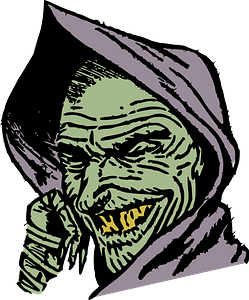 Cloaked goblin clipart