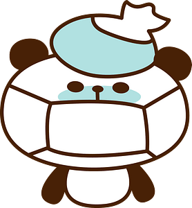 Giant panda cold clipart