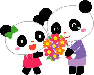 Giant panda gift clipart