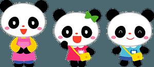 Giant panda kindergarten clipart
