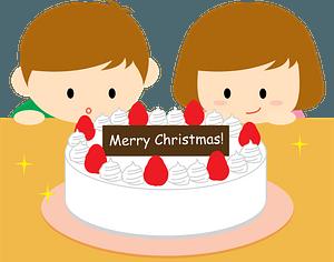 Christmas cake children clipart
