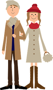Couple winter clipart