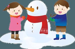 Snowman children clipart