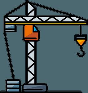 Construction crane clipart