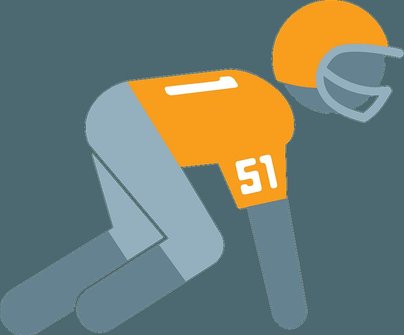 Defensive lineman clipart