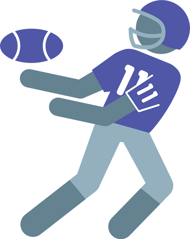 Wide receiver clipart