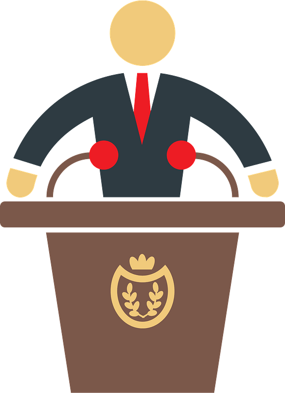 President podium clipart