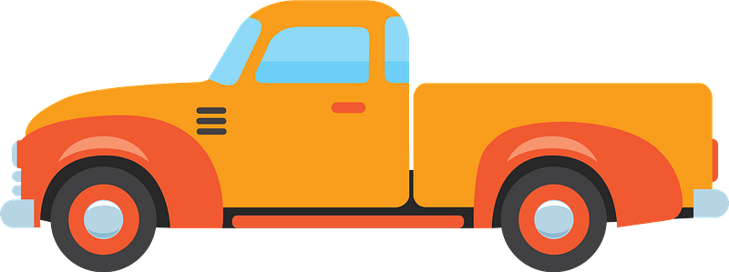 Old pickup truck clipart