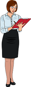 Secretary clipart