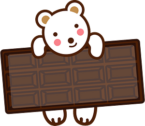 Polar bear with chocolate 클립 아트