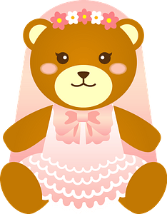 Bear bride clipart