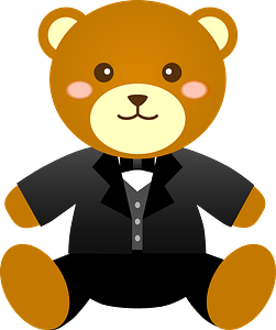 Bear groom clipart