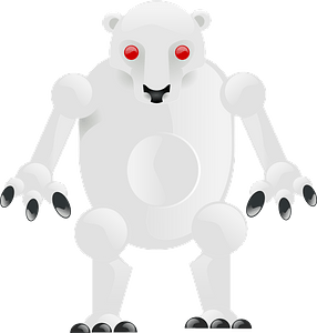 Robot polar bear 클립 아트