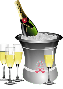 Champagne on ice remix clipart