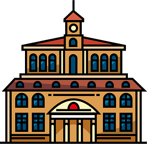 College building clipart