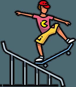 Skateboarder clipart