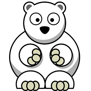 Polar bear with big eyes 클립 아트