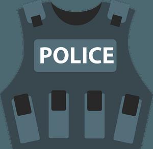 Police vest immagine clipart