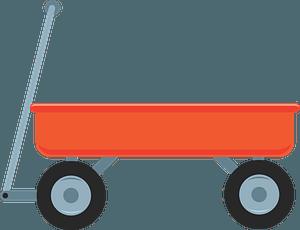 Red wagon immagine clipart
