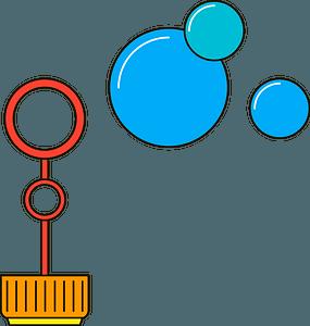 Bubble wand clipart