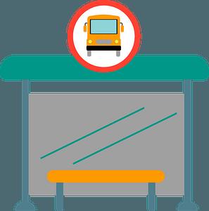 Bus stop clipart