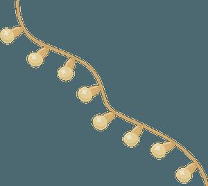 Wedding string lights clipart
