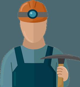 Coal miner clipart