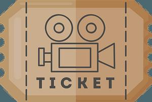 Movie ticket klipart
