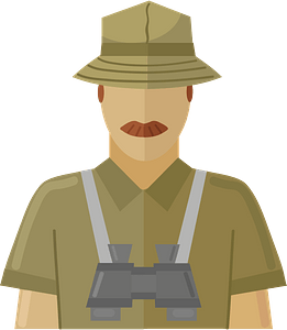 Safari guide clipart