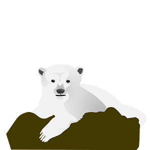 Polar bear resting on a rock 클립 아트