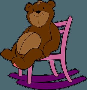 Teddy bear on a chair clipart