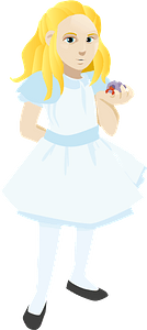Alice and hermit crab clipart