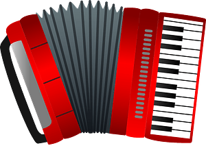 Accordion musical instrument clipart